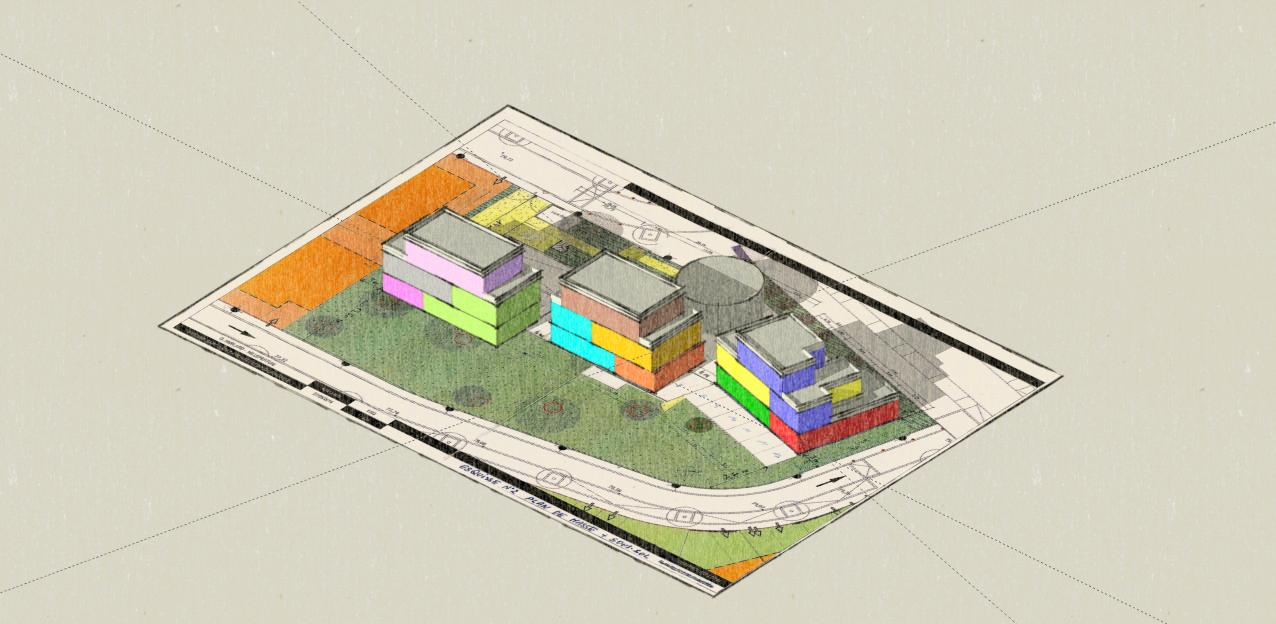 Les Millepertuis , plan 3 D, projet non réalisé