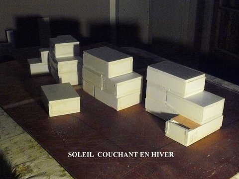 Projet Les Millepertuis, maquette, non réalisé